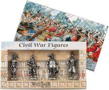Lot de 4 étain guerre civile figures