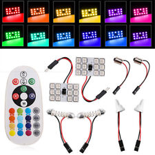 2x T10 12 SMD 5050 RGB LED Car Roof Dome Reading Light Lamp Bulb Remote Control