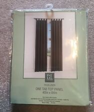 New BL Home Faux Linen Olive Green Drapery Window One Tab Top Panel 40in x 84in