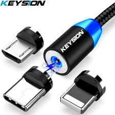 KEYSION LED Magnetic USB Cable Fast Charging Type C Cable Magnet Charger Data
