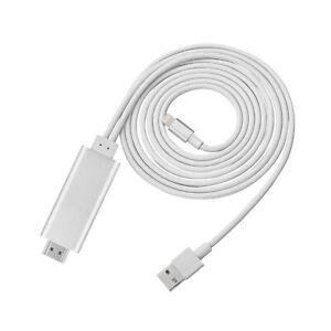 200cm Mini USB 8 Pin auf HDMI Kabel für i Phone 5-8 Plus i Pad