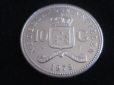 "MDS antillas holandesas 10 florines 1978 ""Juliana"", plata #4"