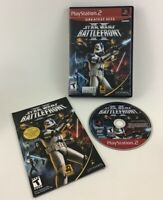 Star Wars Battlefront II Playstation 2 Video Game PS2 Complete Case Manual