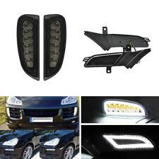 Front Bumper Led DRL + Fender Side Marker Lamp Combo Kit For Porsche Cayenne 957