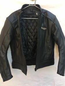 Handmade Men's Black Leather TRIUMPH Jacket