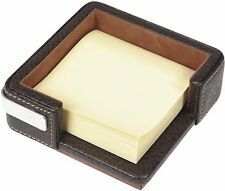 London Designs 48039 Brown Faux Leather Post It ! Holder HALF PRICE OFFER