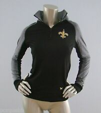 Victorias Secret Nwt Pink Exclusive NFL New Orleans Saints 1/4 Zip Sweater XS