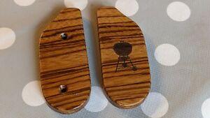 Weber wooden Zebra Wood replacement ash sweeper handle