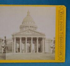 1860/70s France Stereoview Photo Le Pantheon Paris Vues Pour Stereoscope P.L