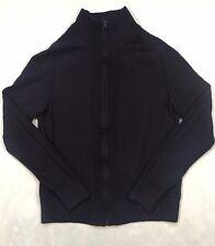 BLAUER USA Mens Full Zip Front Dark Blue Sweater sz M (S) EUC