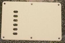 CHITARRA elettrica tremolo bridge COVER piastra 6 stringa holes+screws Bianco Nuovo