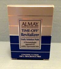 Almay Hypo-Allergentic Time Off Revitalizer Daily Solution Pads 112 Pads