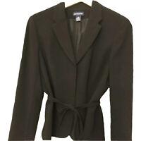 ANN TAYLOR Women's Classic Black BLAZER Size 10 Medium. Free Shipping