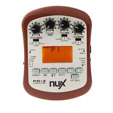 NUX PA-2 Portable Acoustic Guitar Chromatic Effects Processor Pedal