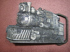"Railroad Train  Belt Buckle Vintage Steam Locomotive Collectible Fits 1-3/4"""