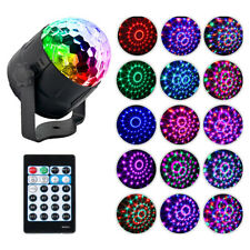 UK Disco DJ Party Club Stage Crystal Ball Effect RGB Light Rotating LED Lighting