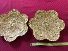Pair Antique Meissen Gilt Oyster Plates
