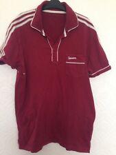 Adidas Vespa Mens Burgundy Shirt Size M