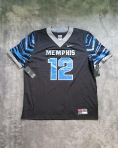 Men's Nike NCAA Memphis Tigers Untouchable Football Game Jersey No #12 Black