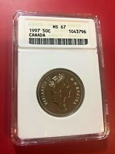 1997 50 CENTS CANADA ANACS MS 67 HIGH GRADE OLD HOLDER
