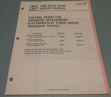 GM Delco 1988 Auto Radio Pontiac Control Head Service Manual 27D-1988-3C