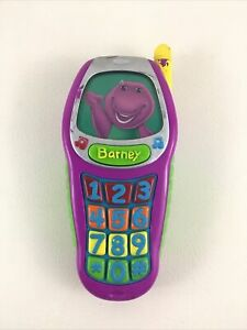 Barney and Friends Best Manners Toy Cell Phone 2002 Behaviors Learning Mattel