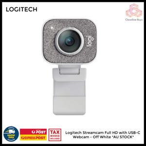 Logitech Streamcam Full HD with USB-C Webcam - Off White *AU STOCK*