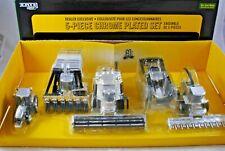 Special 1:64 ERTL Britains JOHN DEERE 5x CHROME PLATED COMBINE & TRACTOR Set MIB