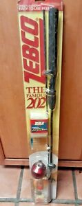 """Zebco 202 5'6"""" 2 Piece Med-light Fishing With Bonus Tackle Easy To Use Reel"""