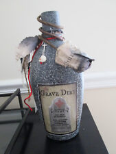 """Large Handmade """"Grave Dirt"""" Halloween Apothecary Potion Bottle"""