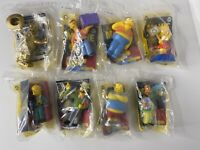 The Simpsons Movie Burger King Toy Lot Of 8 2007 Brand New