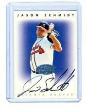 New listing Jason Schmidt 1996 Donruss Leaf Signature Series Silver On Card Autograph Auto