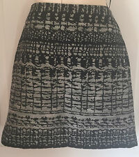 Marks and Spencer Winter Black  Mix Mini Skirt Size 10 - 12 BNWT