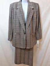 ALFRED DUNNER Womens 100% Wool Skirt Suit Size 18 Skirt Size 14 Blazer NWT