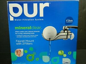 PUR MINERAL CLEAR WATER FILTRATION SYSTEM FAUCET MOUNT W/ 2 FILTERS - FM-9700B