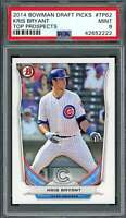 2014 bowman draft picks top prospects #tp62 KRIS BRYANT cubs rookie card PSA 9