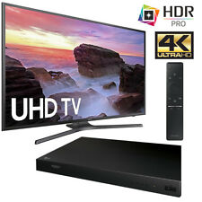 "Samsung UN55MU6300 55"" 4K Ultra HD Smart LED TV (2017) + LG UP870 Blu-Ray Player"