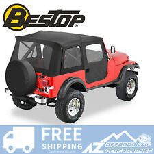 Bestop Replace A Top 76-86 Jeep CJ7 Door Skins Clear Windows Black Crush