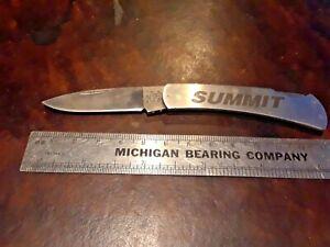 Case Pocketknife, All Stainless Gentleman's Locker, Summit Logo