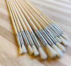 12 X Artist Paint Brush Set Brushes Painting Acrylic Oil Wood Long 30cm Handles