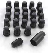 24 x BLACK WHEEL & LOCK NUTS TOYOTA LANDCRUISER 45 60 80 SERIES 12 x 1.5mm