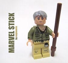 LEGO Custom -- Stick -- Marvel Super heroes mini figure daredevil mentor netflix