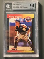 1989 Donruss #561 Craig Biggio RC 2001 Anniversary Originals Buybacks BGS 8.5