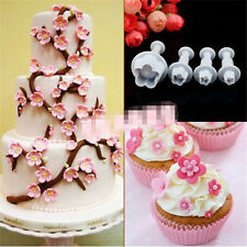 4x Plum Blossom Cakes Decoration Icing Piping Nozzles Pastry Tips Baking Tools