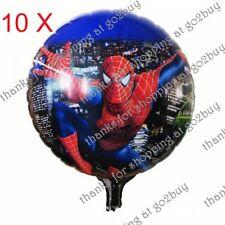 5 X Cartoon Foil Balloon Spider-man a Birthday Party Decoration Round 45cm