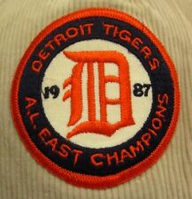 DETROIT TIGERS baseball hat Olde English D corduroy cap AL East Champions 1987
