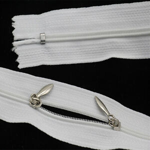 2Pcs 3# Double Slider Zipper 2-Way Closed End Clothing Bag Replacement Sewing