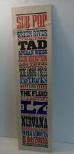 Rare, SUB POP Poster on Foam Board: Nirvana, Green River, TAD,  Mudhoney+++++++