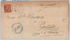 ITALIA REGNO:  LETTERA con annullo SBARRE +  cerchio CASTELGOFFREDO 1885