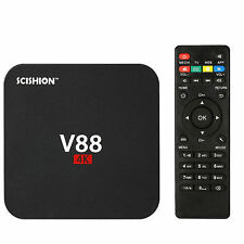 V88 4K Android 6.0 Smart TV Box RK3229 Quad Core 8GB HD 1080P Wifi Media Black D